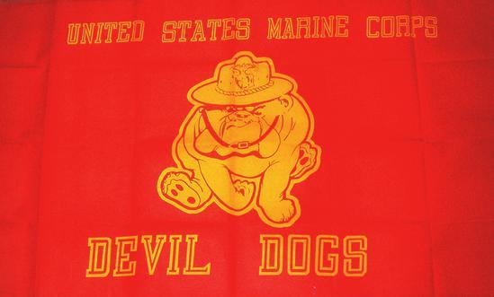 USMC Marine Corps Semper Fi Devil Dogs 3' x 5' Flag A