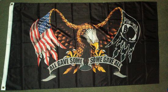 2 schwarze verstellbare Fahnenmast-Halterung Set f/ür Harley Davidson Honda Goldwing CB VTX CBR Yamaha E-Most 15,2 x 22,9 cm Amerikanische Flagge POW MIA You are Not Forgotten Flagge