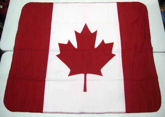 Canada Flag On A 40 X 40 Fleece Blanket Flagsandstuff Best Plush Throw Blanket Canada